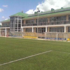 Футбольное поле в спортивном лагере в Крыму