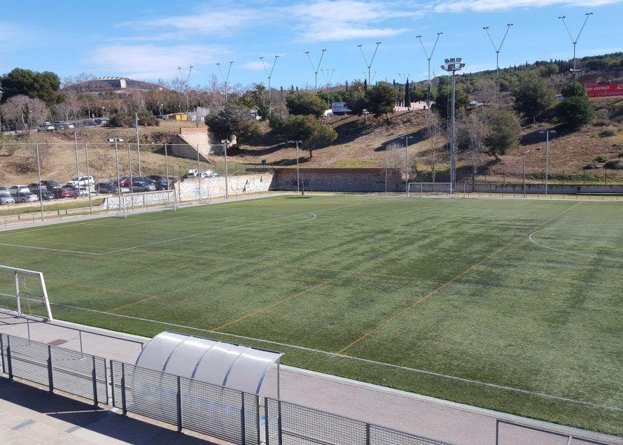Футбольный лагерь Планета Спорта в Барселоне вид на поле