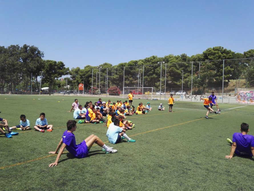 фото из летнего лагеря в Барселоне 2018