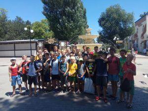 Футбольный Лагерь Планета Спорта в аквапарке 2018