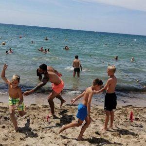 фото купание в море с детьми