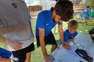 фото лагерь в Барселоне тренер у стола