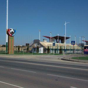 Вход комплекс футбольного лагеря Планета Спорта