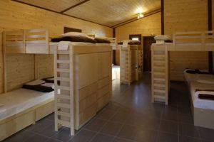 Лутраки домик. Места проживания в лагере