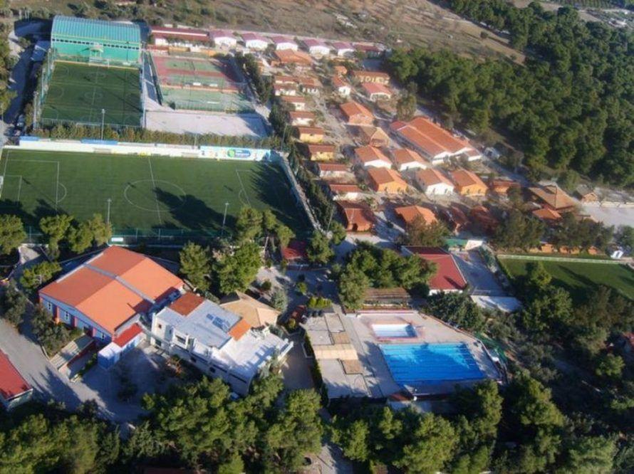Лутраки вид на футбольный лагерь сверху