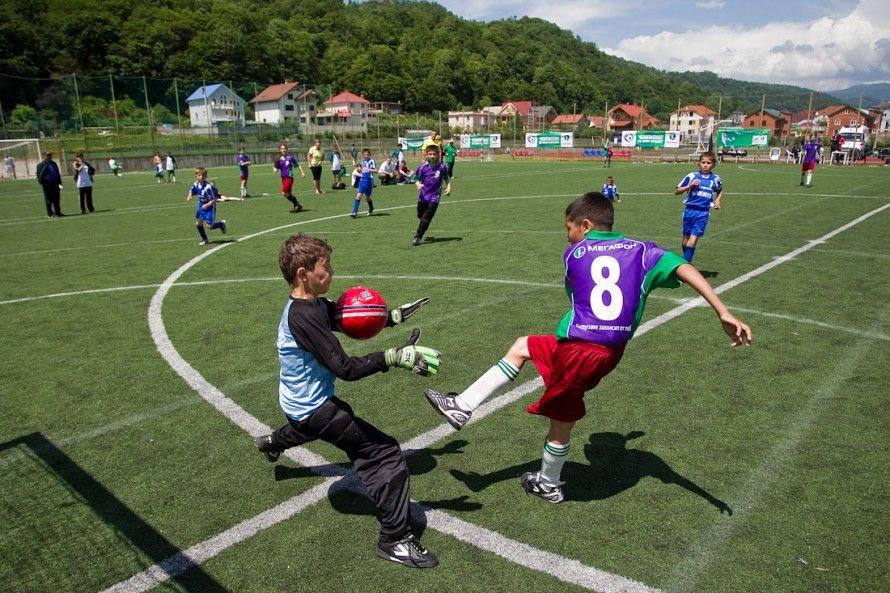 фото с игры лагеря в Сочи по футболу 2013